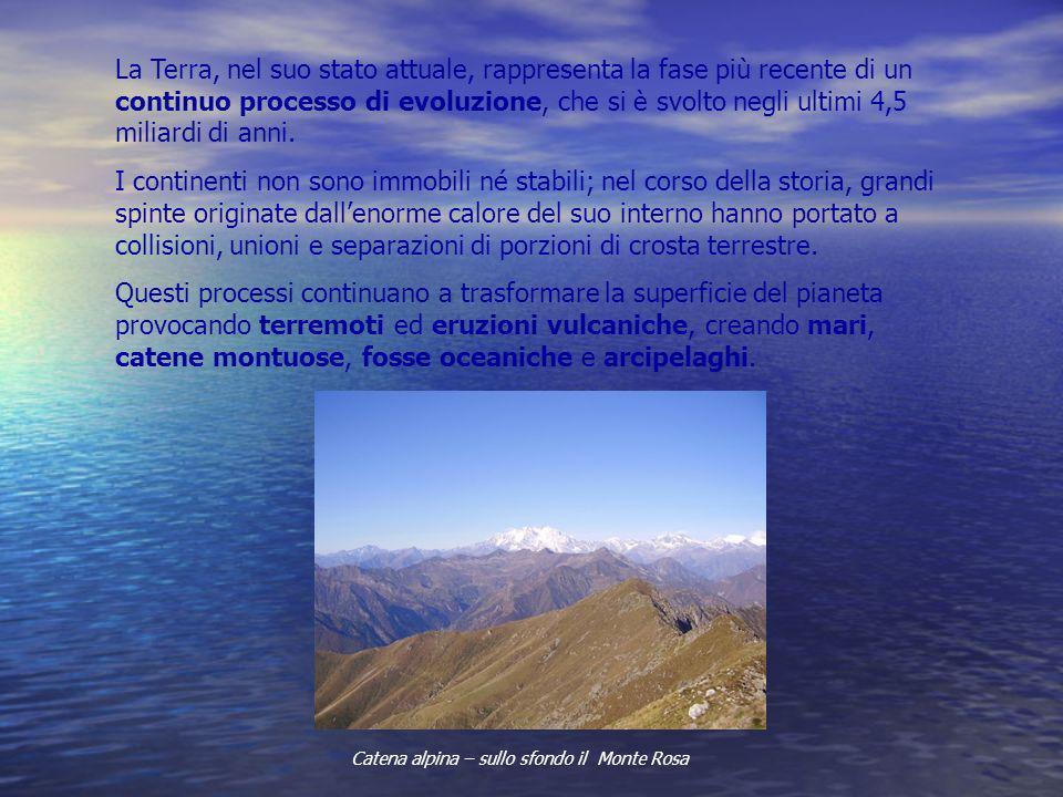 Catena alpina – sullo sfondo il Monte Rosa