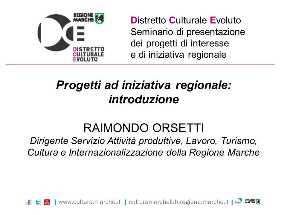Progetti ad iniziativa regionale: introduzione