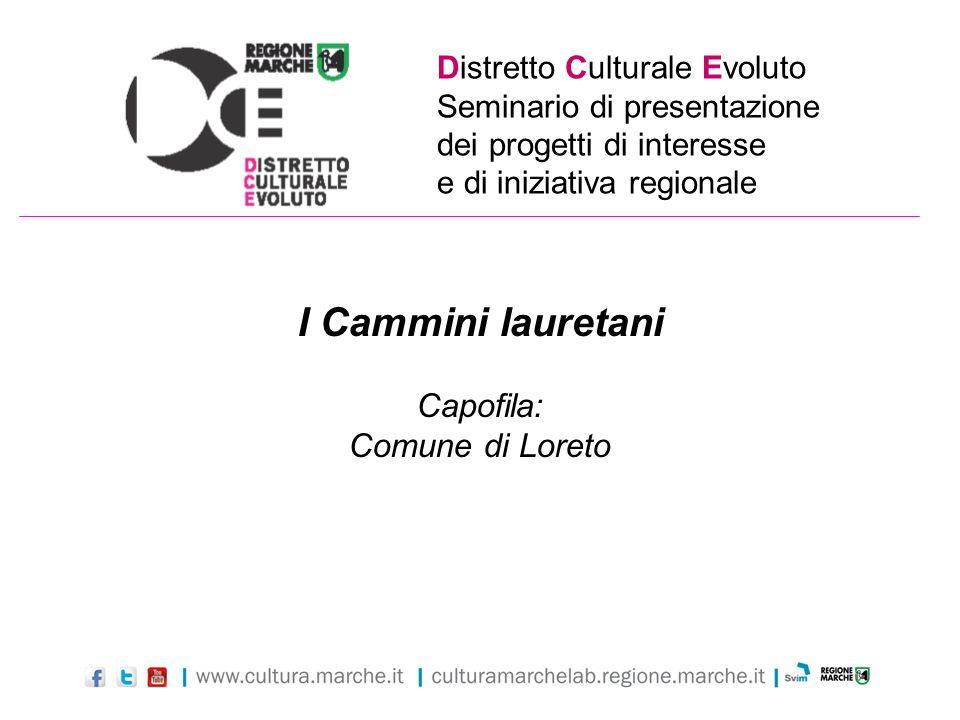 I Cammini lauretani Capofila: Comune di Loreto