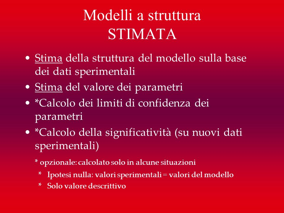 Modelli a struttura STIMATA