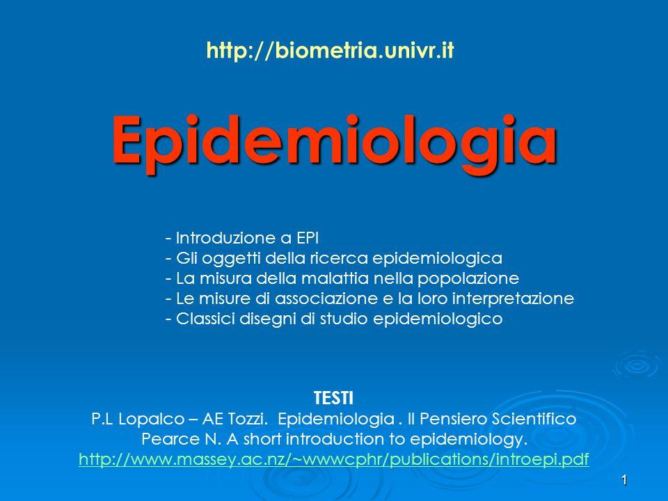 P.L Lopalco – AE Tozzi. Epidemiologia . Il Pensiero Scientifico