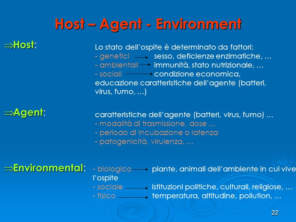 Host – Agent - Environment