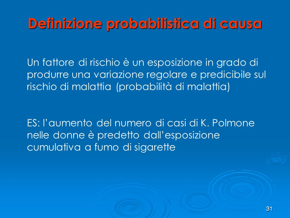 Definizione probabilistica di causa