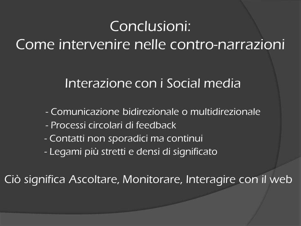 Conclusioni: Come intervenire nelle contro-narrazioni