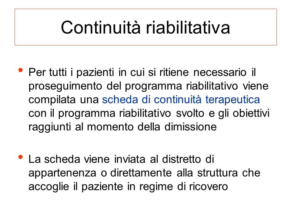 Continuità riabilitativa