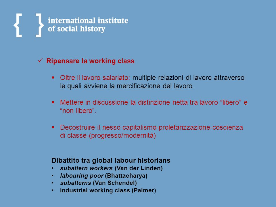 Ripensare la working class