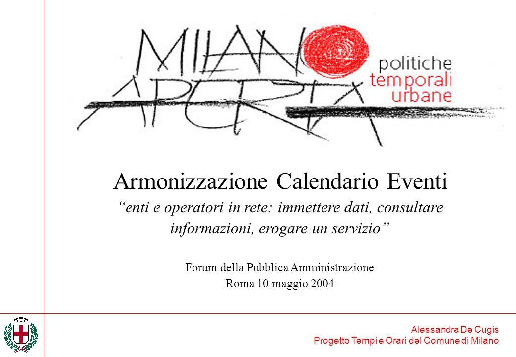 Armonizzazione Calendario Eventi