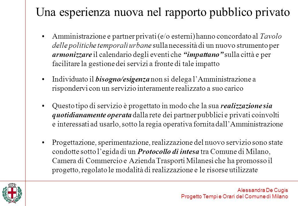 Una esperienza nuova nel rapporto pubblico privato