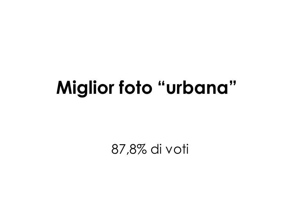 Miglior foto urbana 87,8% di voti
