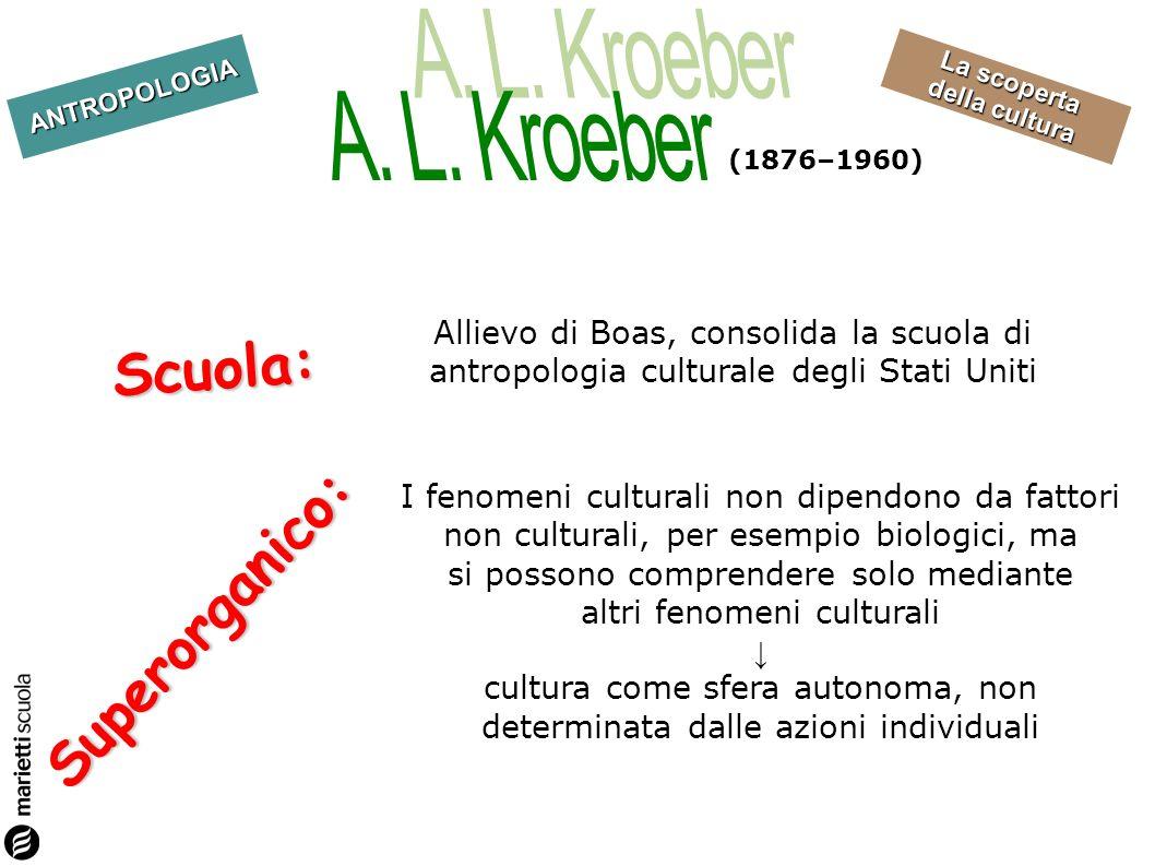 Scuola: Superorganico: A. L. Kroeber