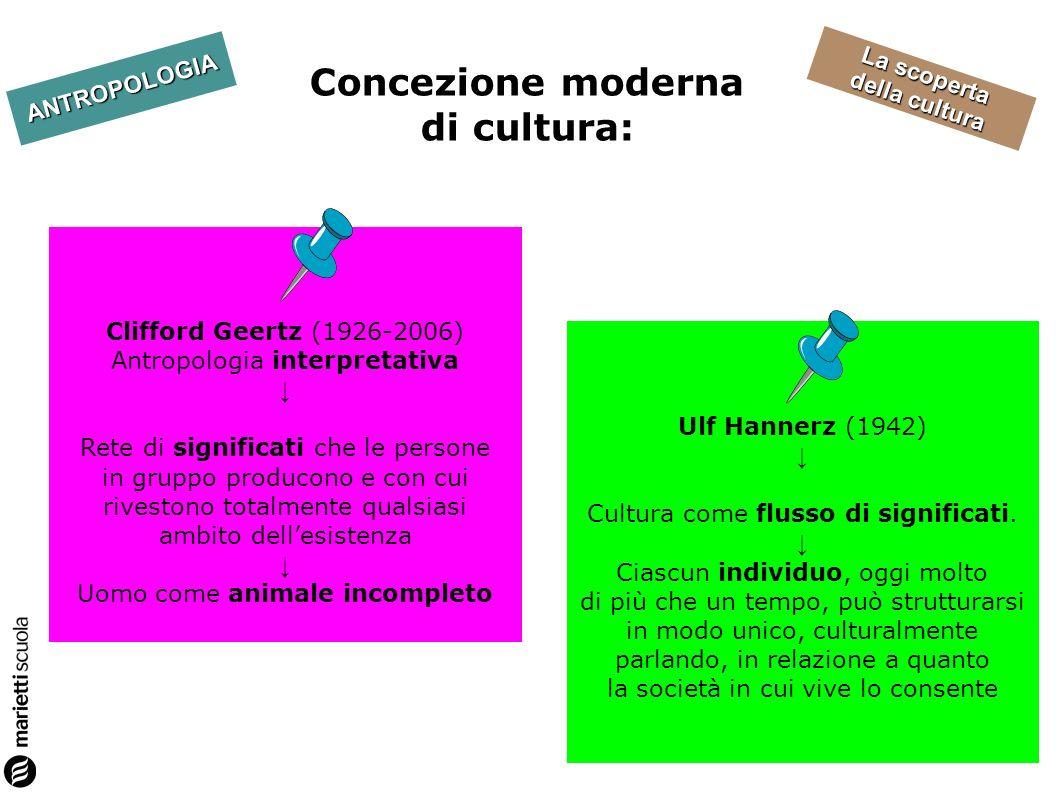 Concezione moderna di cultura: