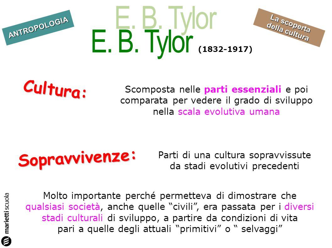 Cultura: Sopravvivenze: E. B. Tylor