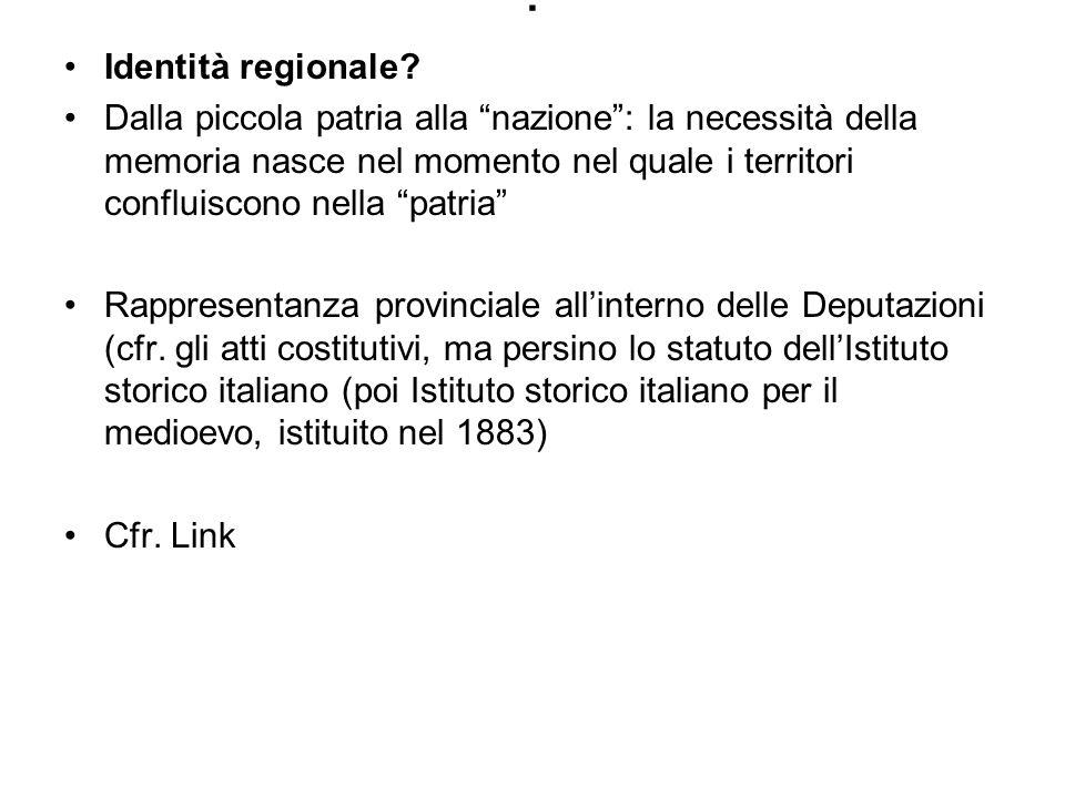 . Identità regionale
