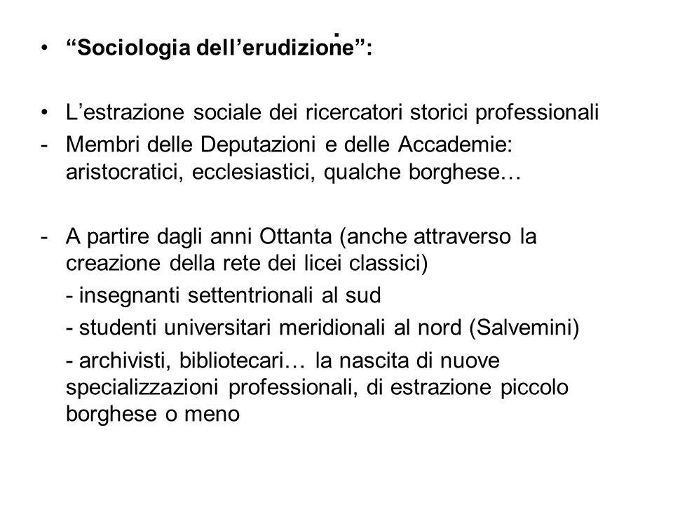 . Sociologia dell'erudizione :