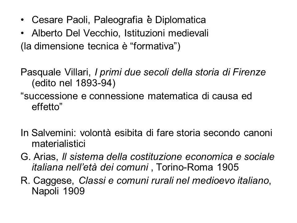 . Cesare Paoli, Paleografia e Diplomatica