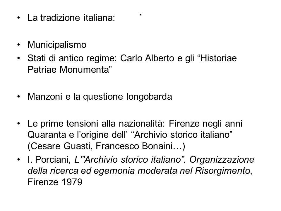 . La tradizione italiana: Municipalismo