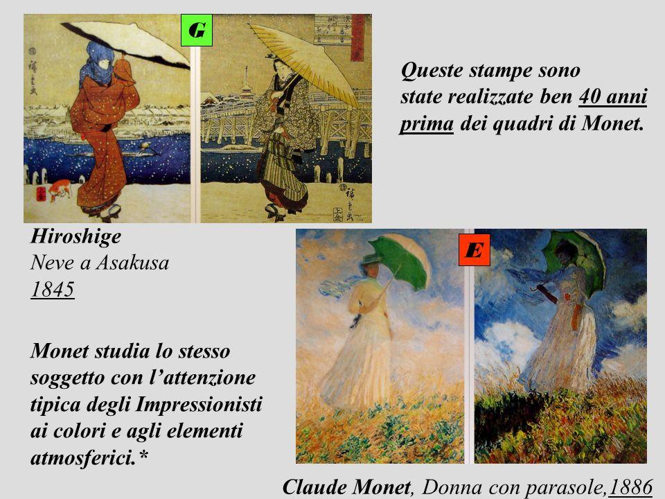 GQueste stampe sono. state realizzate ben 40 anni. prima dei quadri di Monet. Hiroshige. Neve a Asakusa.