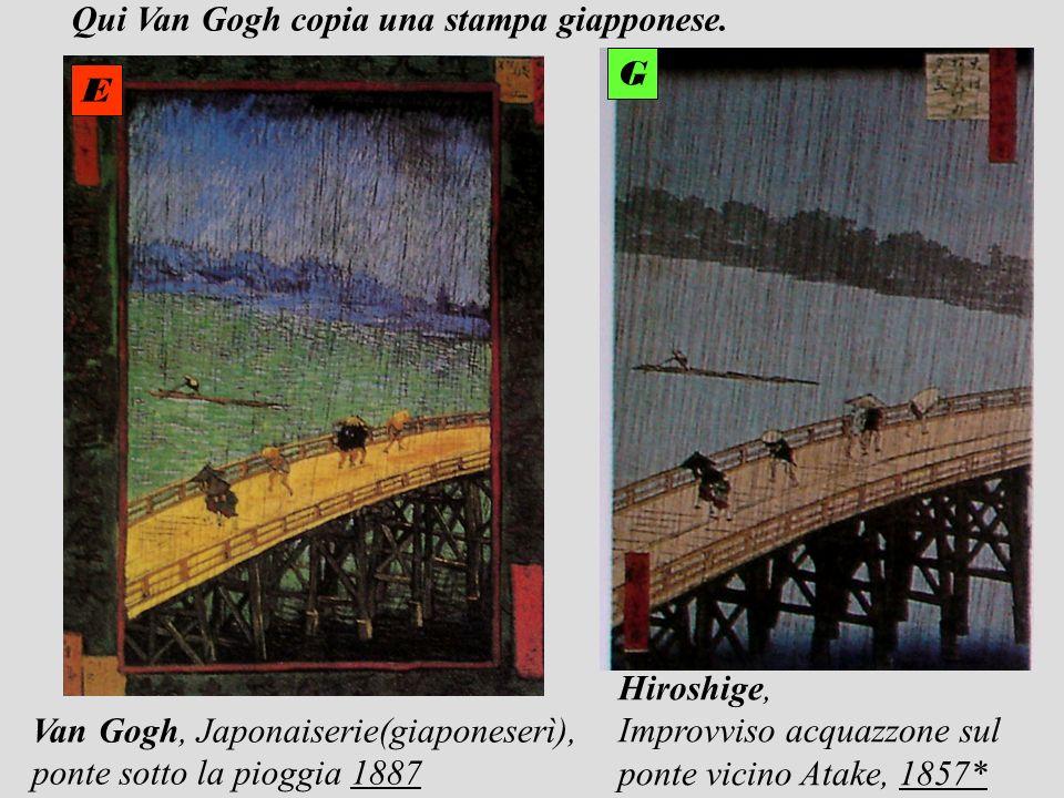 Qui Van Gogh copia una stampa giapponese.