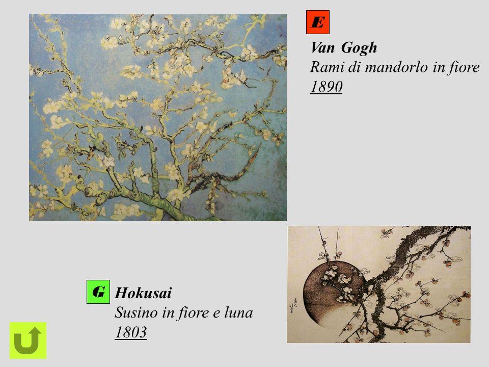 E Van Gogh Rami di mandorlo in fiore 1890 G Hokusai Susino in fiore e luna 1803