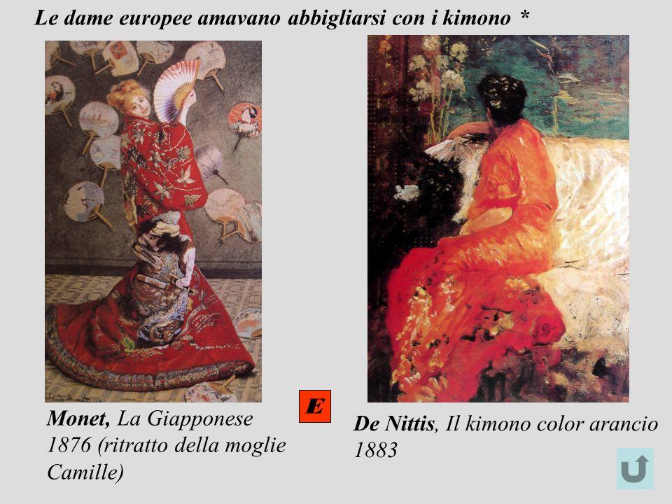 Le dame europee amavano abbigliarsi con i kimono *