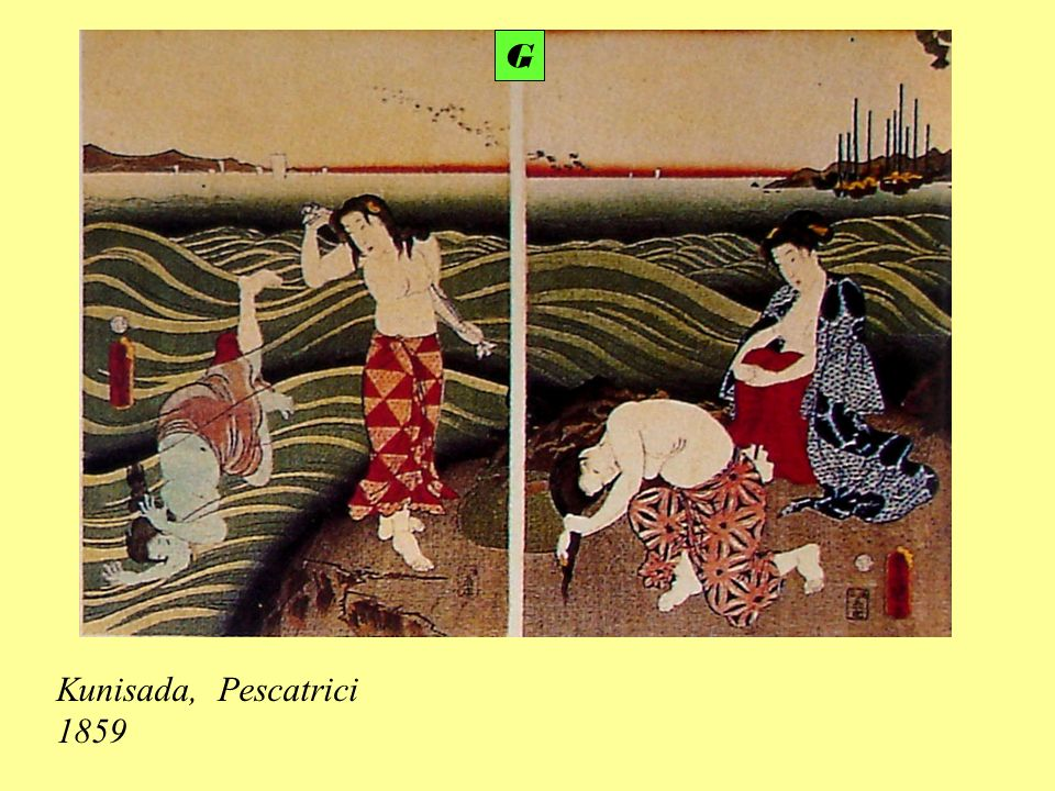G Kunisada, Pescatrici 1859