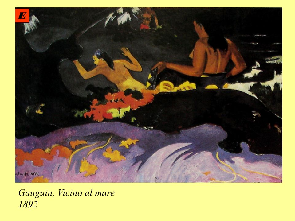 E Gauguin, Vicino al mare 1892