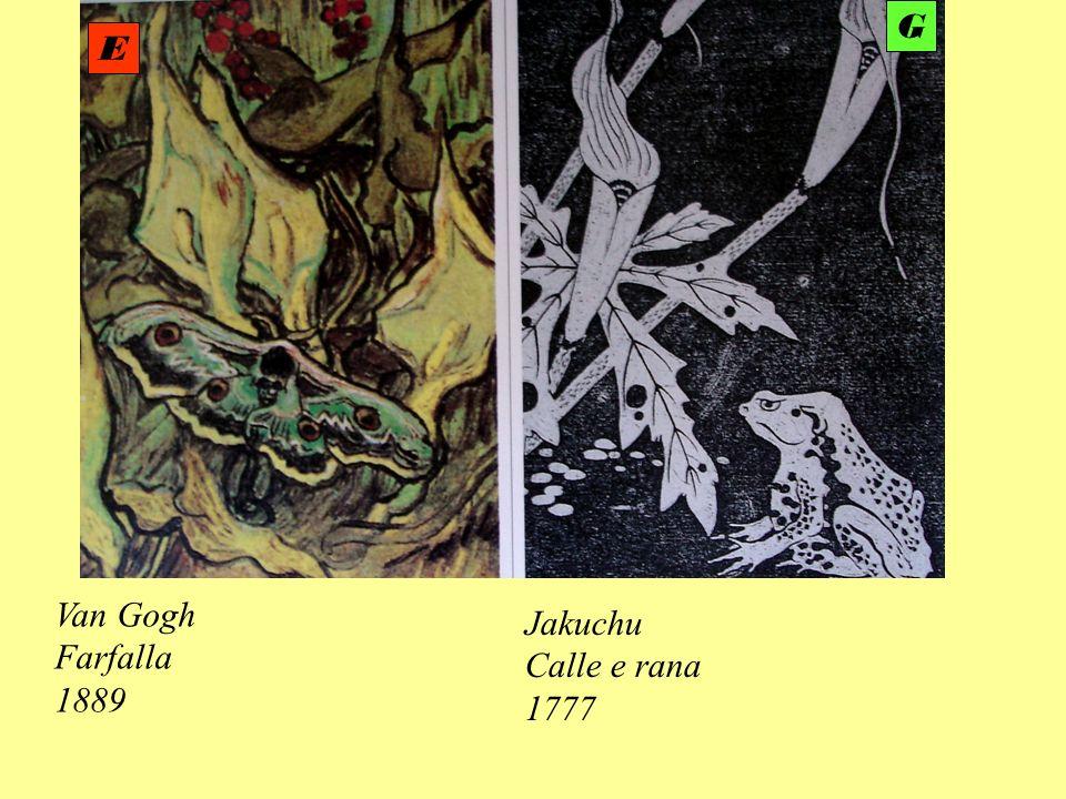 G E Van Gogh Farfalla 1889 Jakuchu Calle e rana 1777