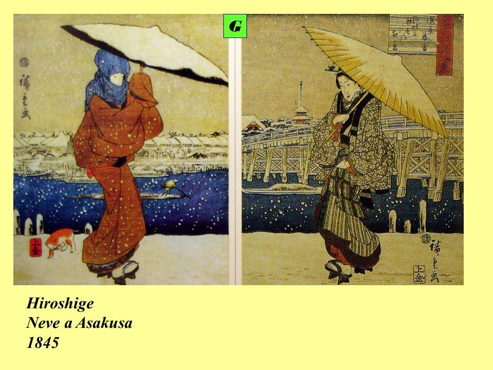G Hiroshige Neve a Asakusa 1845