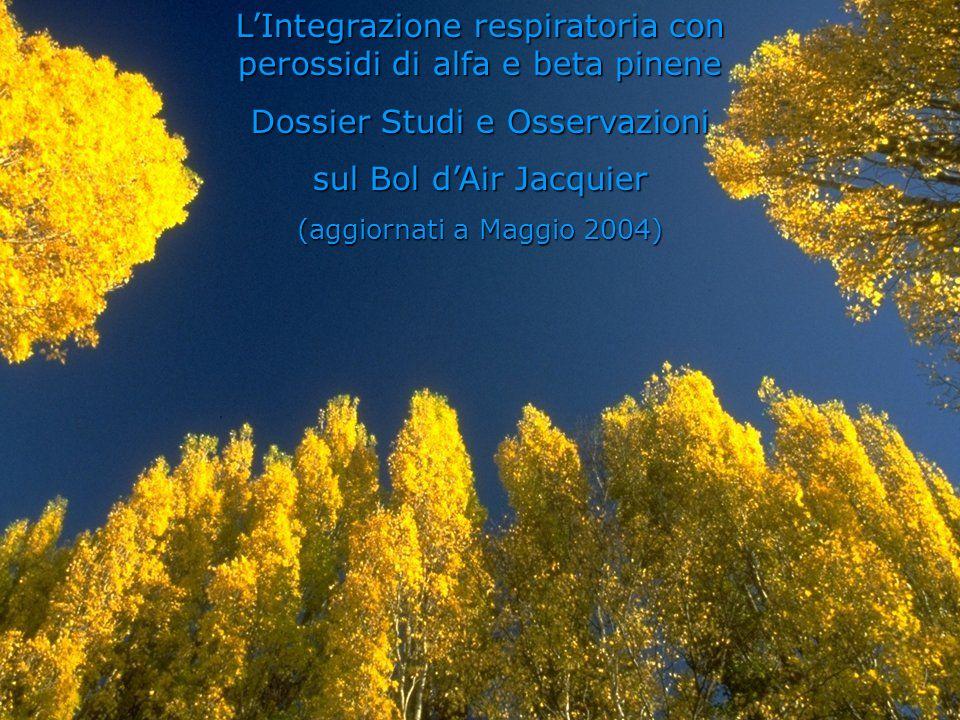 L'Integrazione respiratoria con perossidi di alfa e beta pinene