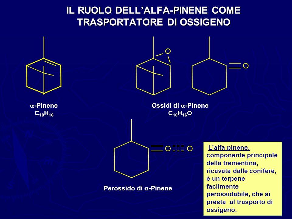 IL RUOLO DELL'ALFA-PINENE COME TRASPORTATORE DI OSSIGENO