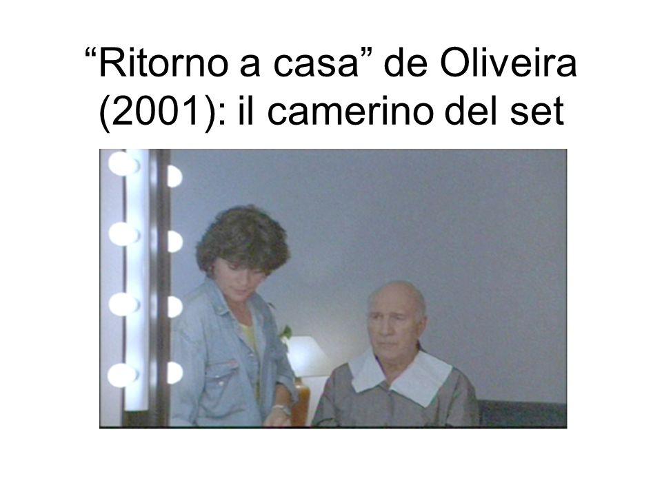 Ritorno a casa de Oliveira (2001): il camerino del set