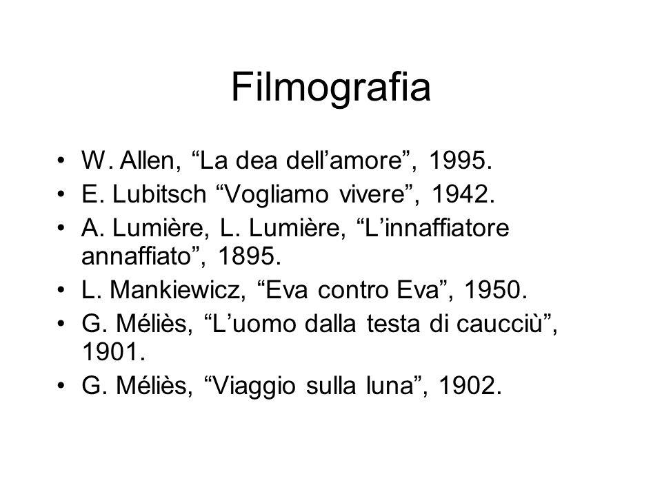 Filmografia W. Allen, La dea dell'amore , 1995.
