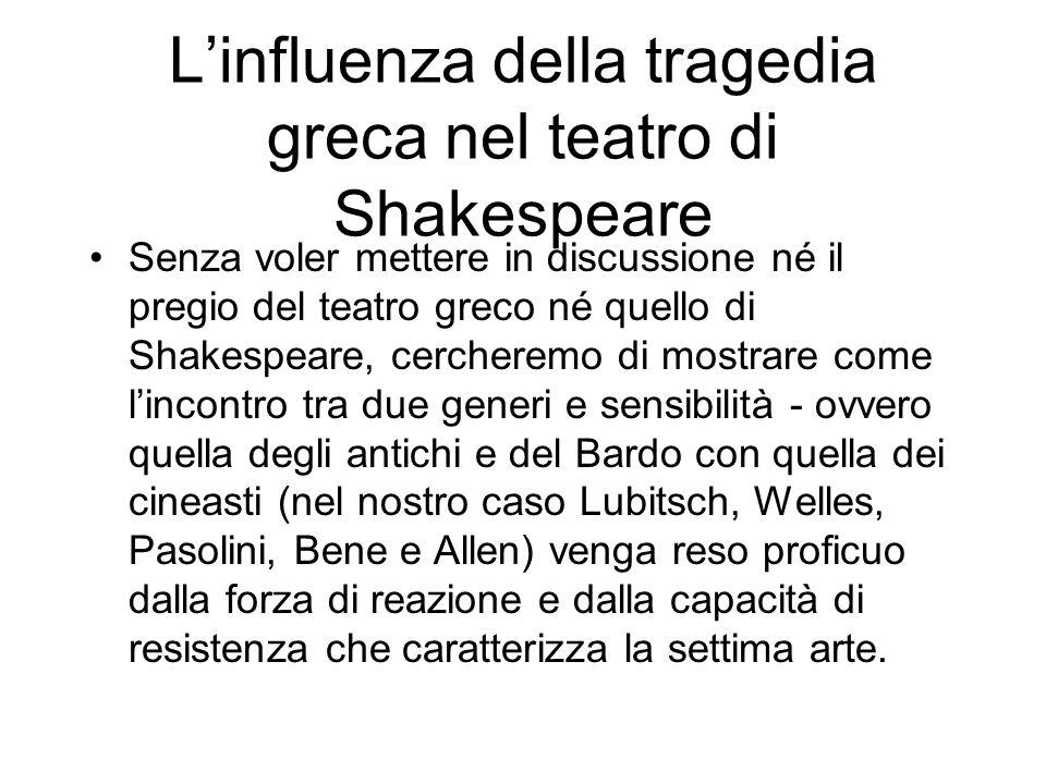 L'influenza della tragedia greca nel teatro di Shakespeare