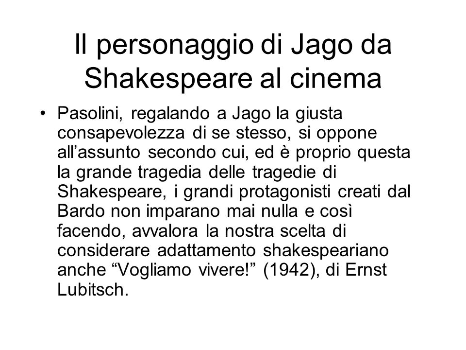 Il personaggio di Jago da Shakespeare al cinema