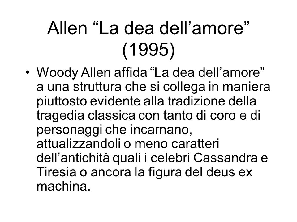 Allen La dea dell'amore (1995)