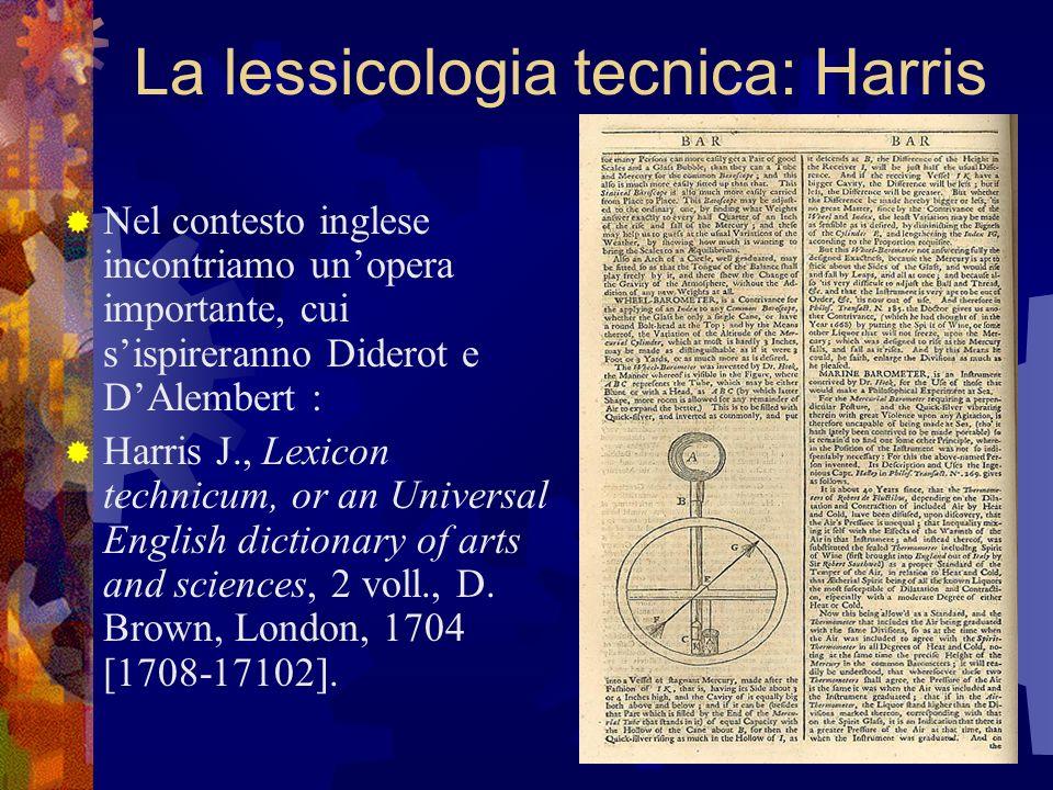 La lessicologia tecnica: Harris