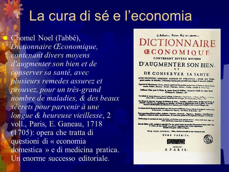 La cura di sé e l'economia