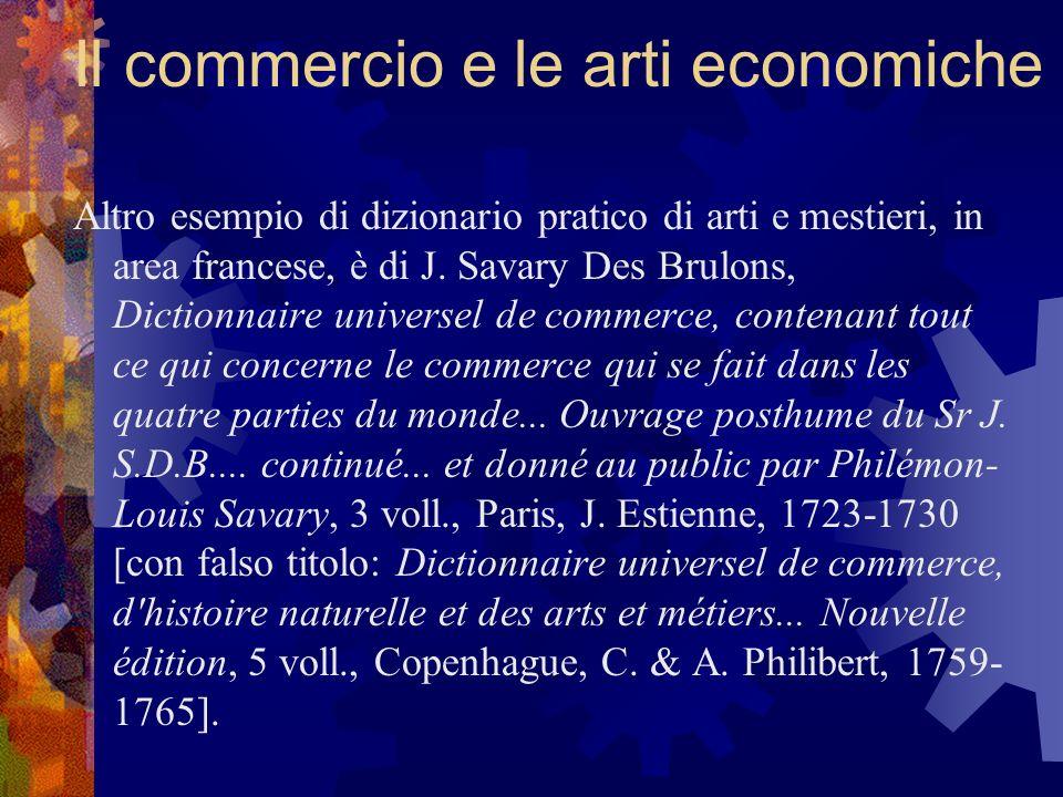 Il commercio e le arti economiche