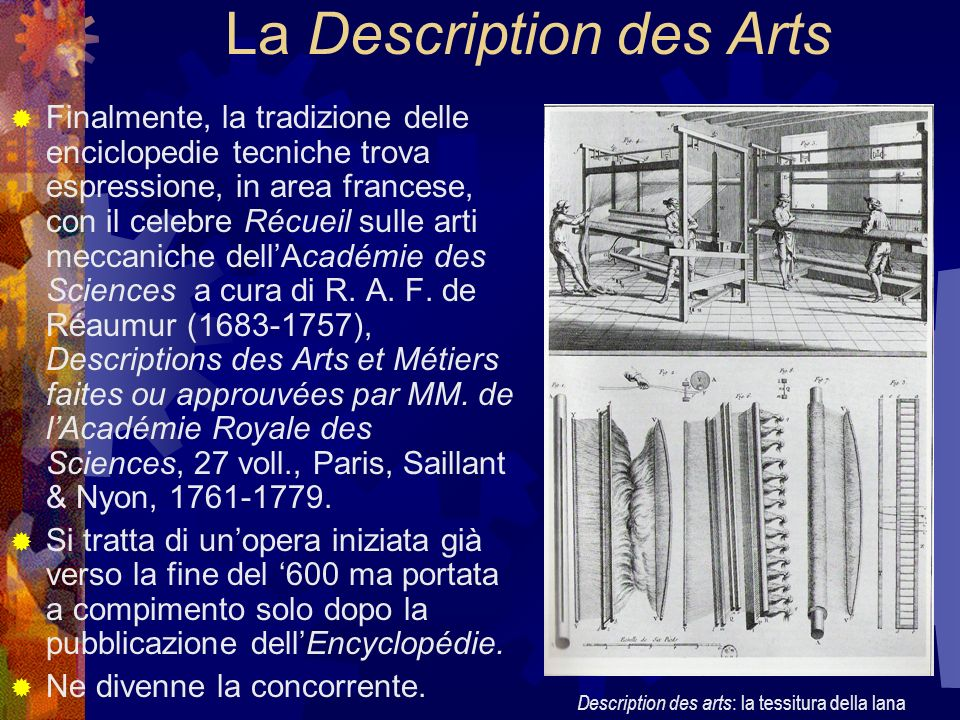 La Description des Arts