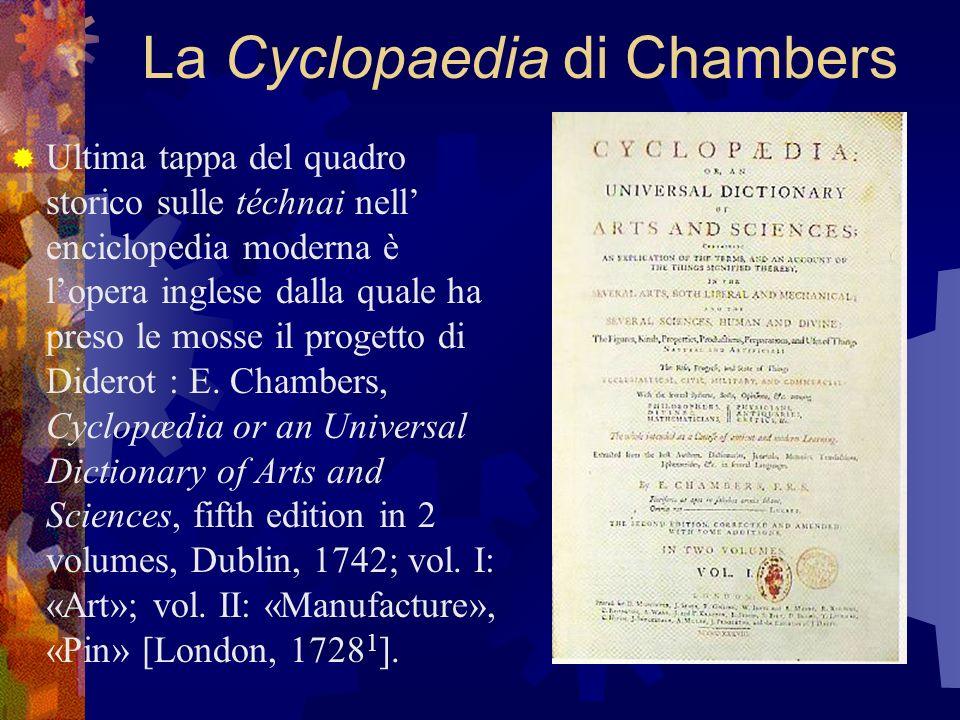La Cyclopaedia di Chambers