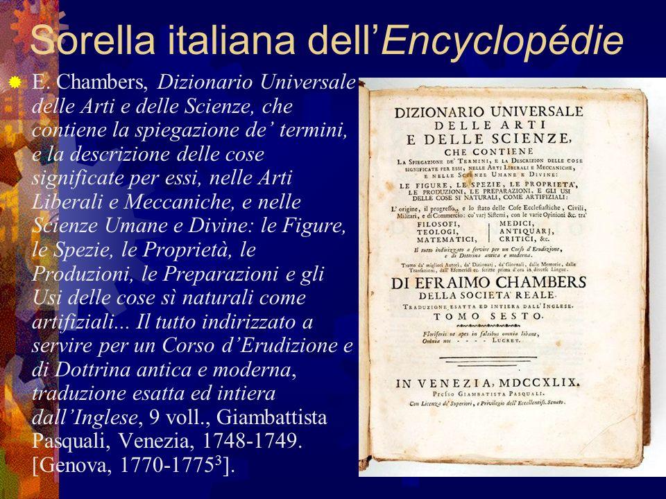 Sorella italiana dell'Encyclopédie
