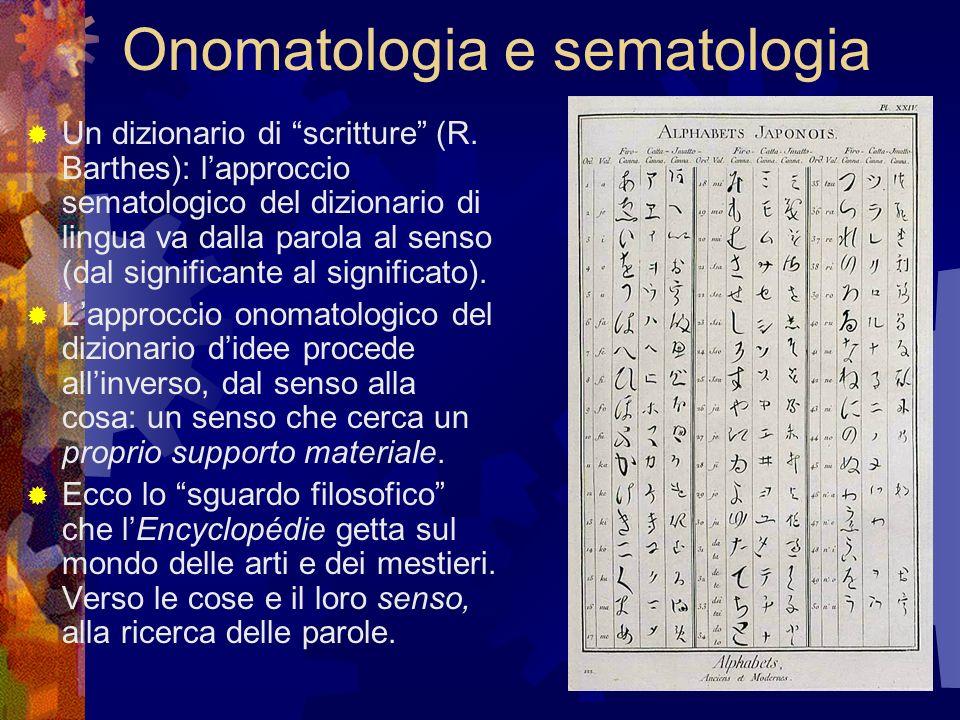 Onomatologia e sematologia