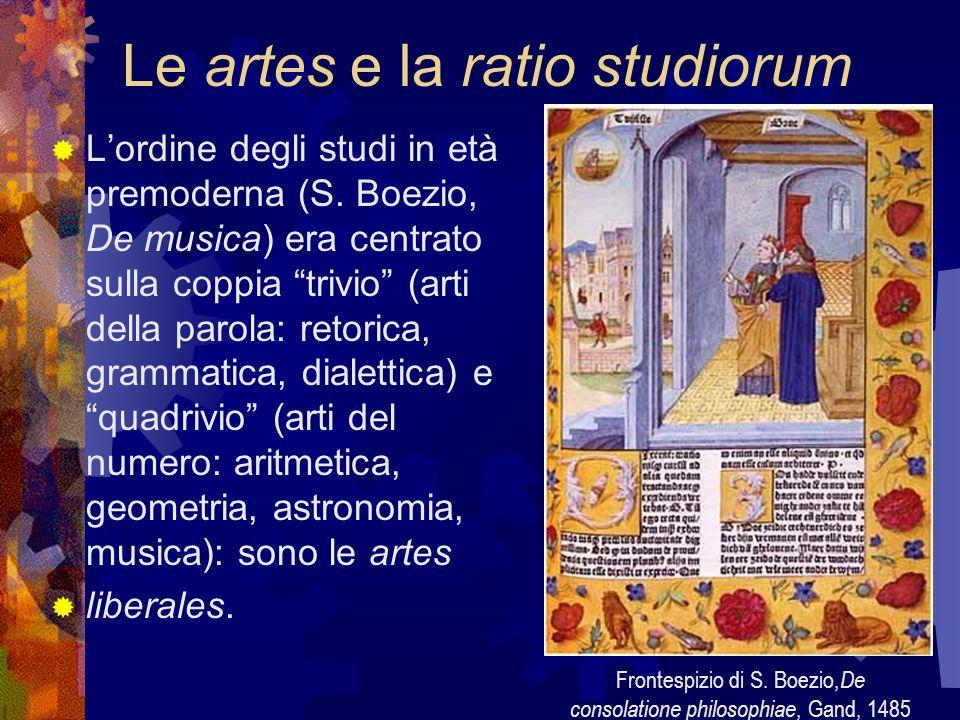 Le artes e la ratio studiorum