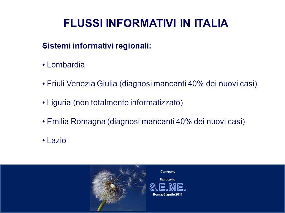 FLUSSI INFORMATIVI IN ITALIA
