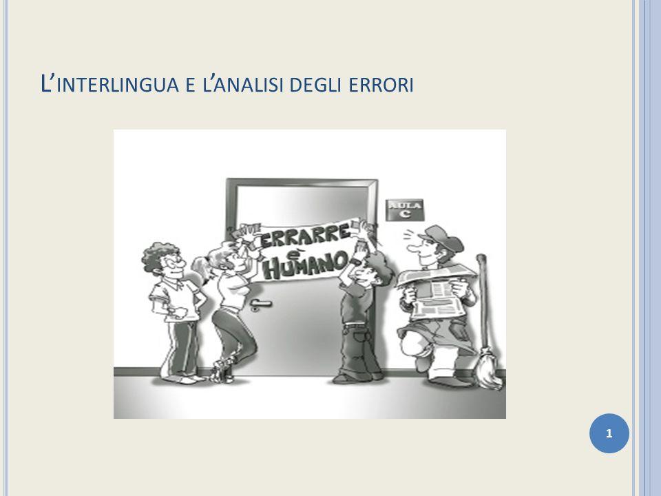 L'interlingua e l'analisi degli errori