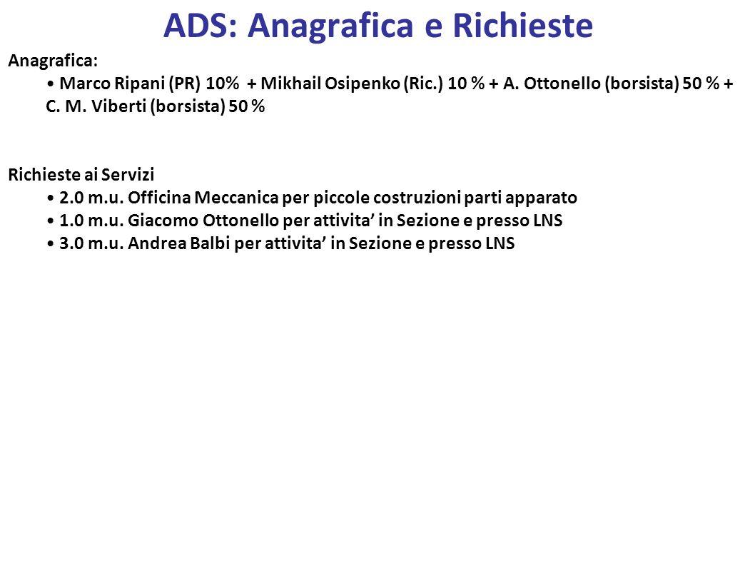 ADS: Anagrafica e Richieste