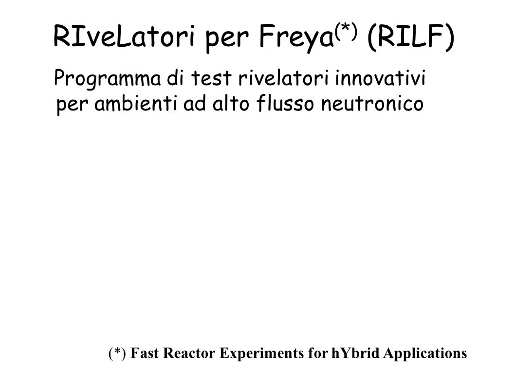 RIveLatori per Freya(*) (RILF)