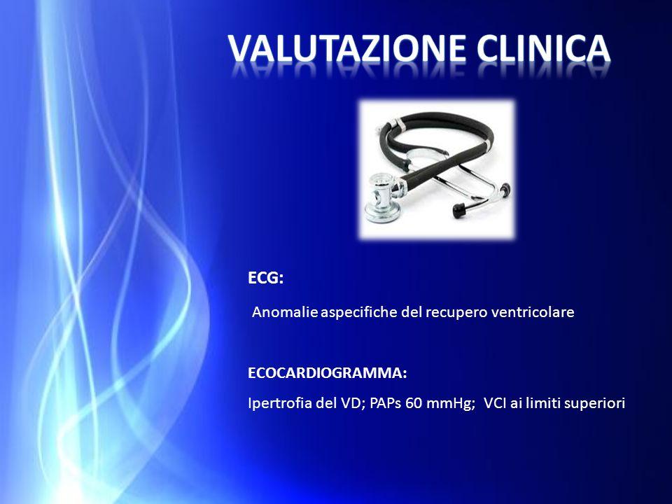 VALUTAZIONE CLINICA ECG: