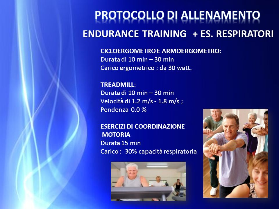 Protocollo di allenamento