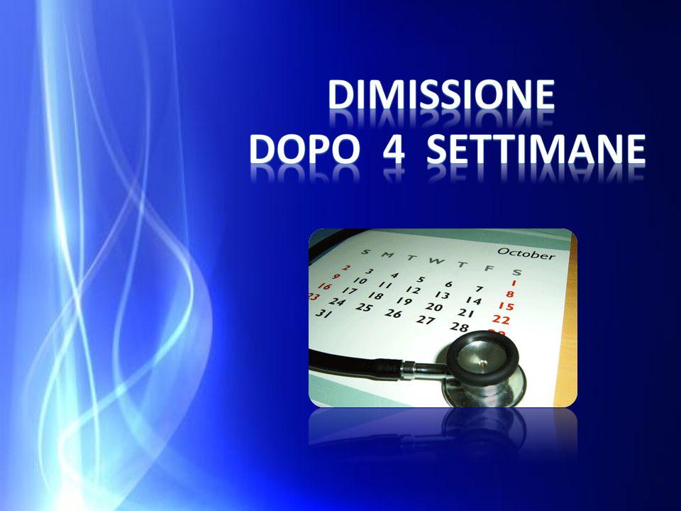 DIMISSIONE DOPO 4 SETTIMANE